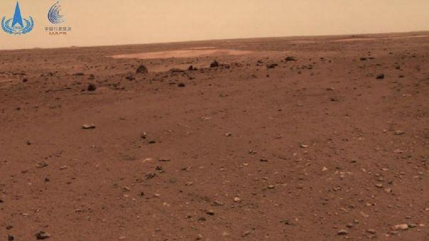 Imagen de Marte tomada por el rover chino Zhurong