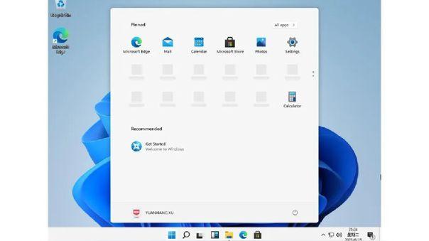 Así se ve una versión previa de Windows 11.