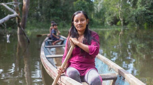 Liz Chicaje inició su lucha por la defensa de la Amazonía a los 16 años.