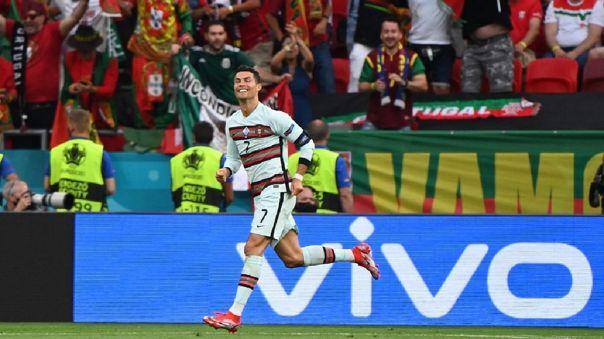 Cristiano Ronaldo marcó el 3-0 de Portugal ante Hungría
