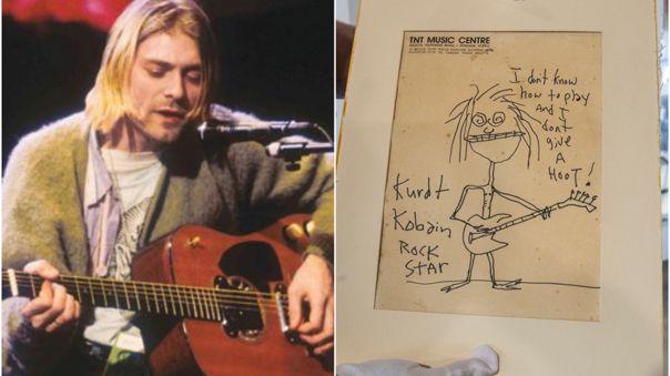 Kurt Cobain: Autorretrato de cantante se vendió por más de 280 mil dólares en una subasta