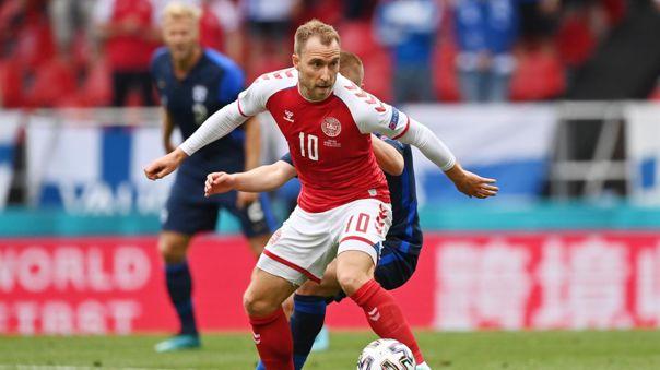 Christian Eriksen solo jugó un partido en lo que va de la Eurocopa.