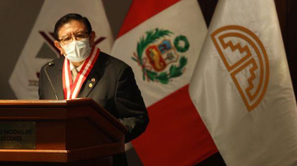 Jorge Salas Arenas, presidente del Jurado Nacional de Elecciones (JNE).
