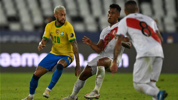 Perú perdió ante Brasil en su debut en la Copa América 2021