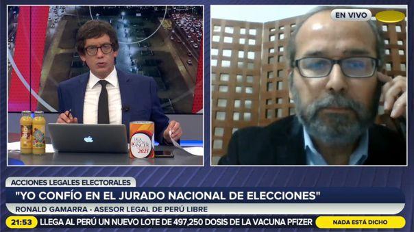 Ronald Gamarra-Perú Libre-Elecciones 2021