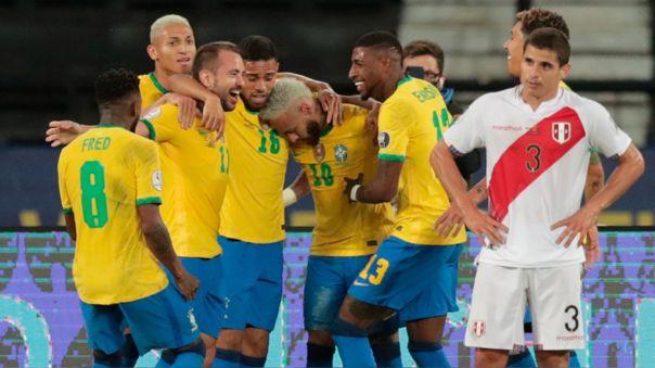 Brasil venció 4-0 a Perú por la fecha 2 del grupo B de la Copa América