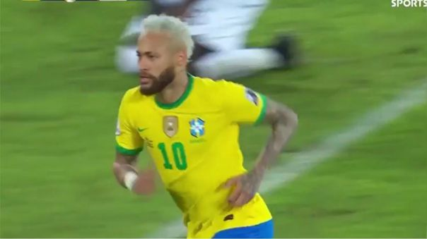 Neymar marcó el 2-0 de Brasil sobre Perú en la Copa América