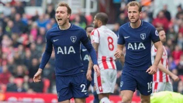 Christian Eriksen y Harry Kane jugaron juntos con la camiseta del Tottenham.