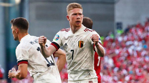 Bélgica venció 2-1 a Dinamarca por el grupo B de la Eurocopa 2021