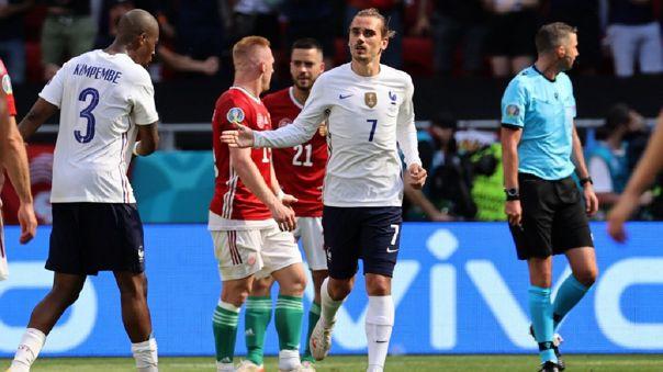 Antoine Griezmann le dio el empate 1-1 a Francia ante Hungría