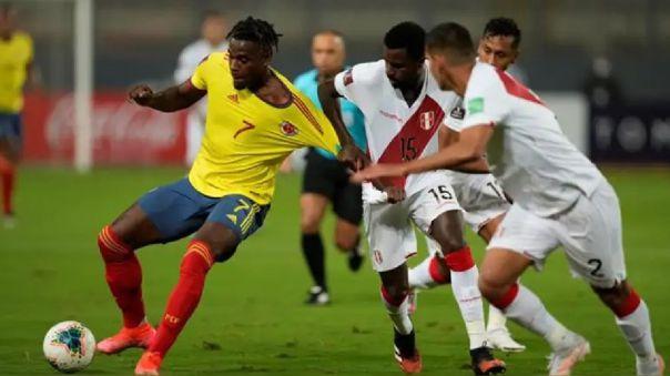Perú perdió 3-0 ante Colombia por las Eliminatorias Qatar 2022.