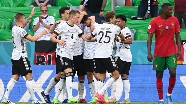 Alemania derrotó 4-2 a Portugal por el grupo F de la Eurocopa 2021