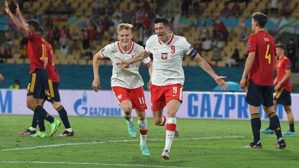 Lewandowski se mostró fino en el España ante Polonia por la Eurocopa 2021.