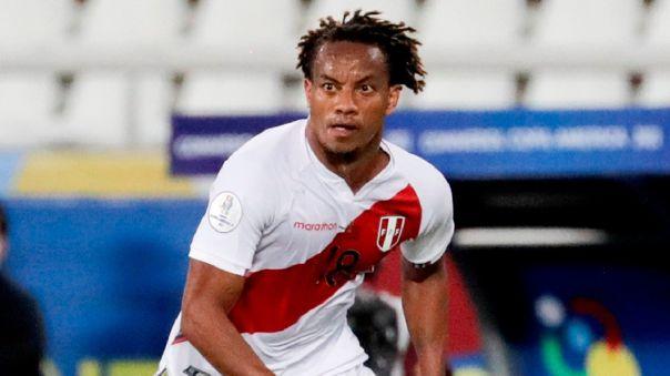 André Carrillo será titular en Perú para el duelo con Colombia