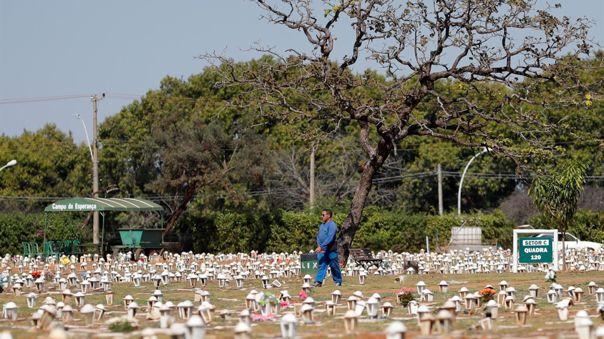 Brasil supera el medio millón de fallecidos por COVID-19.