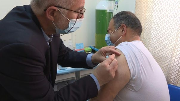 Vacunación en Palestina.