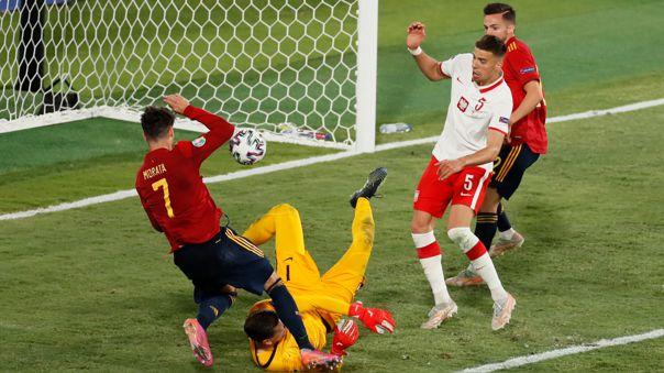 España empató 1-1 con Polonia por la fecha 2 del grupo E de la Eurocopa