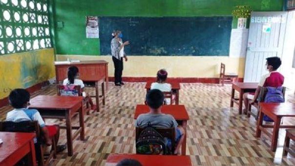 El Minedu empezó con las clases semipresenciales en mayo de 2021.