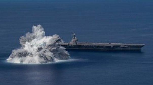 Imágenes y videos mostraron una enorme explosión de agua.