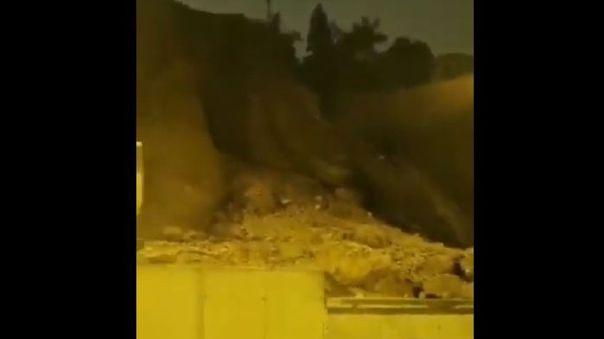 Así quedó parte de la Costa Verde por el fuerte sismo en Lima.