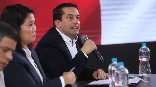 Miguel Torres, vocero de Fuerza Popular.