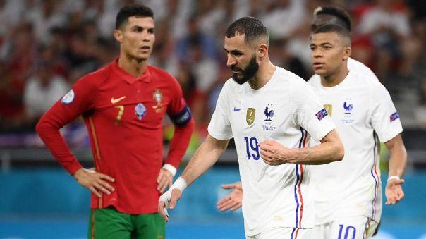 Francia y Portugal juegan por el grupo F de la Eurocopa