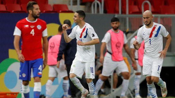 Paraguay dio el golpe y venció a Chile en el Estadio Mané Garrincha.