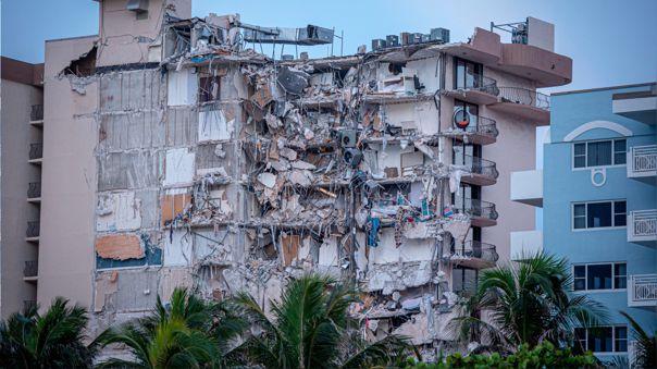 Derrumbe en Miami Beach