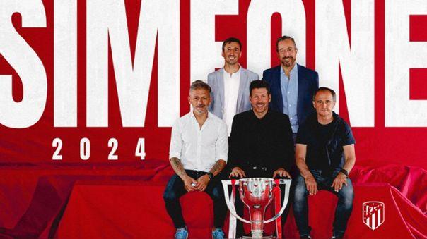 Hay \'Cholo\' para rato en LaLiga: Diego Simeone renovó con Atlético de Madrid hasta mediados de 2024
