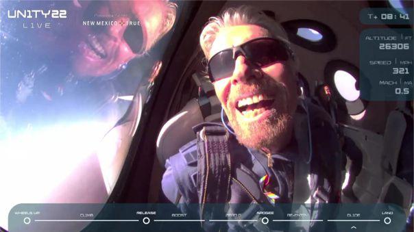 Richard Branson se convierte en el primer turista en llegar al espacio en una nave de su propia compañía [VIDEO]