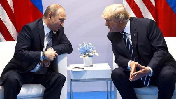 Putin y Trump durante una reunión en Alemania.