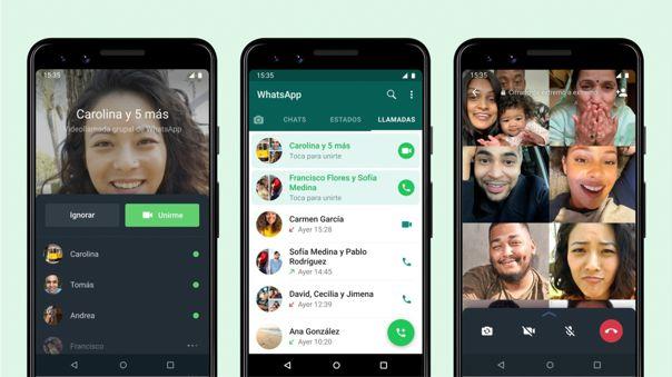 Ya puedes ingresar a las videollamadas grupales en curso desde WhatsApp