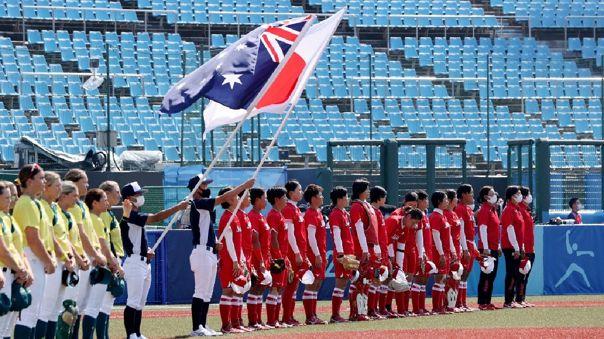 Tokio 2020: comenzaron las competencias con triunfo de Japón en sóftbol