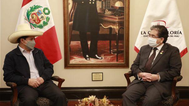 Pedro Castillo y Nelson Shack