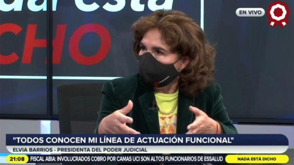 La titular del Poder Judicial rechazó haberse reunido con Walter Ríos