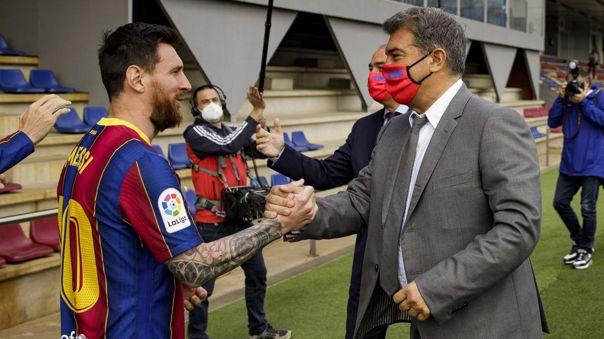 Joan Laporta se refirió a la renovación de Lionel Messi con Barcelona