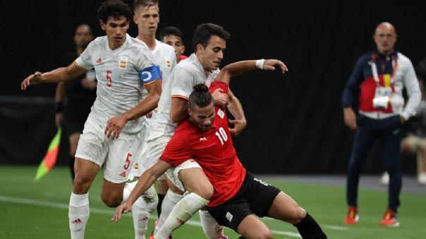 España empató 0-0 con Egipto por la fecha 1 de grupo C de Juegos Olímpicos Tokio 2020