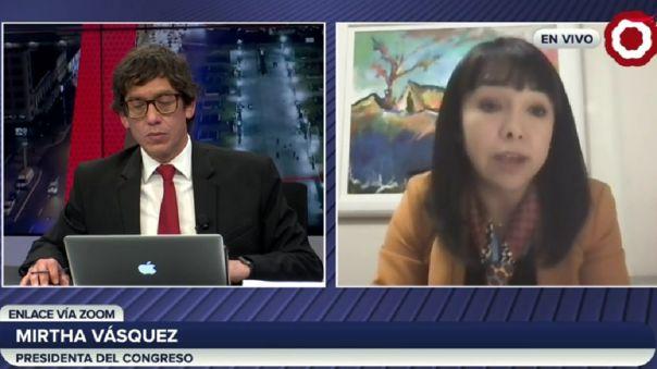 Mirtha Vásquez desmintió ascensos irregulares durante su gestión en el Congreso.