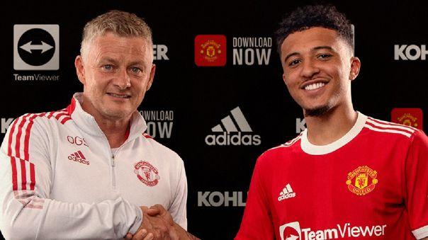 Jadon Sancho fue anunciado como nuevo jugador del Manchester United