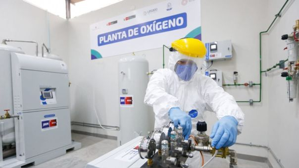 Ministro destacó el avance de la producción de oxígeno.