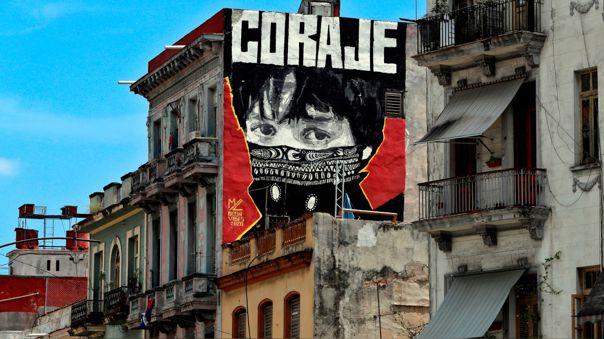 Una calle de La Habana, capital de Cuba y uno de los escenarios de las protestas contra el régimen castrista.