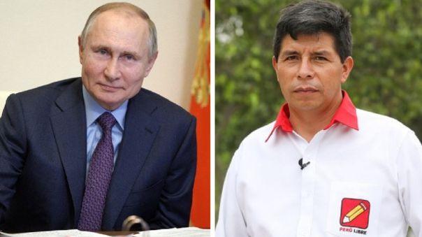 El mandatario ruso expresó sus felicitaciones a Pedro Castillo.