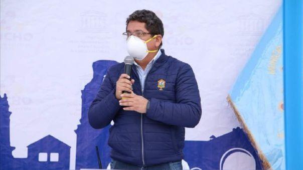 Alcalde de Huamanga, región Ayacucho, Yuri Gutiérrez.