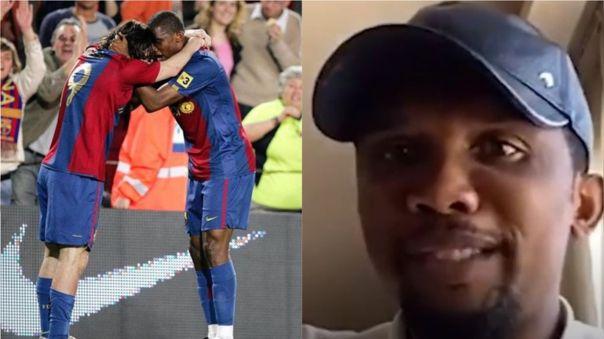 """Samuel Eto'o: """"Yo no jugué con Messi, en mi época Messi jugó conmigo"""""""