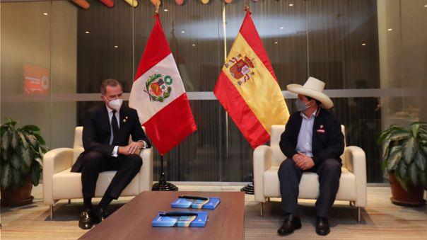 Reunión entre Pedro Castillo y el rey de España, Felipe VI