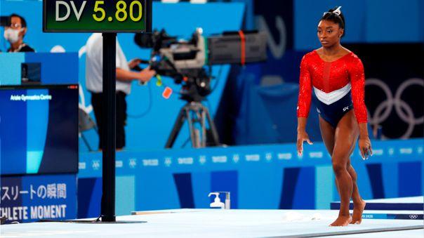 Tokio 2020: Simone Biles se lesionó durante el concurso general por equipos