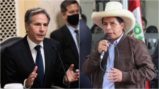 Antony Blinken felicitó al presidente electo Pedro Castillo.