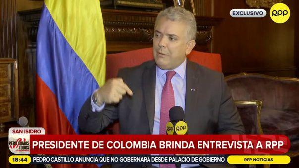 Iván Duque ofrece entrevista a RPP.