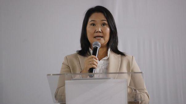 Keiko Fujimori se pronuncia tras asunción de Pedro Castillo.