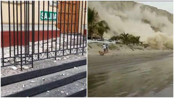 Daños tras el sismo en Piura